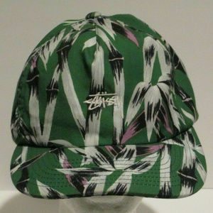 Stussy All Over Floral Design Snapback Hat